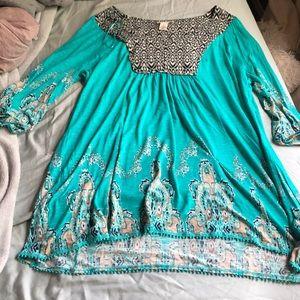 Westbound shirt dress teal